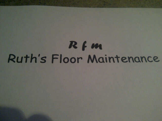 Ruth's Floor Maintenance