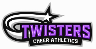Kitchener Novice White Gold Sponsor ~ Twisters Cheer Athletics